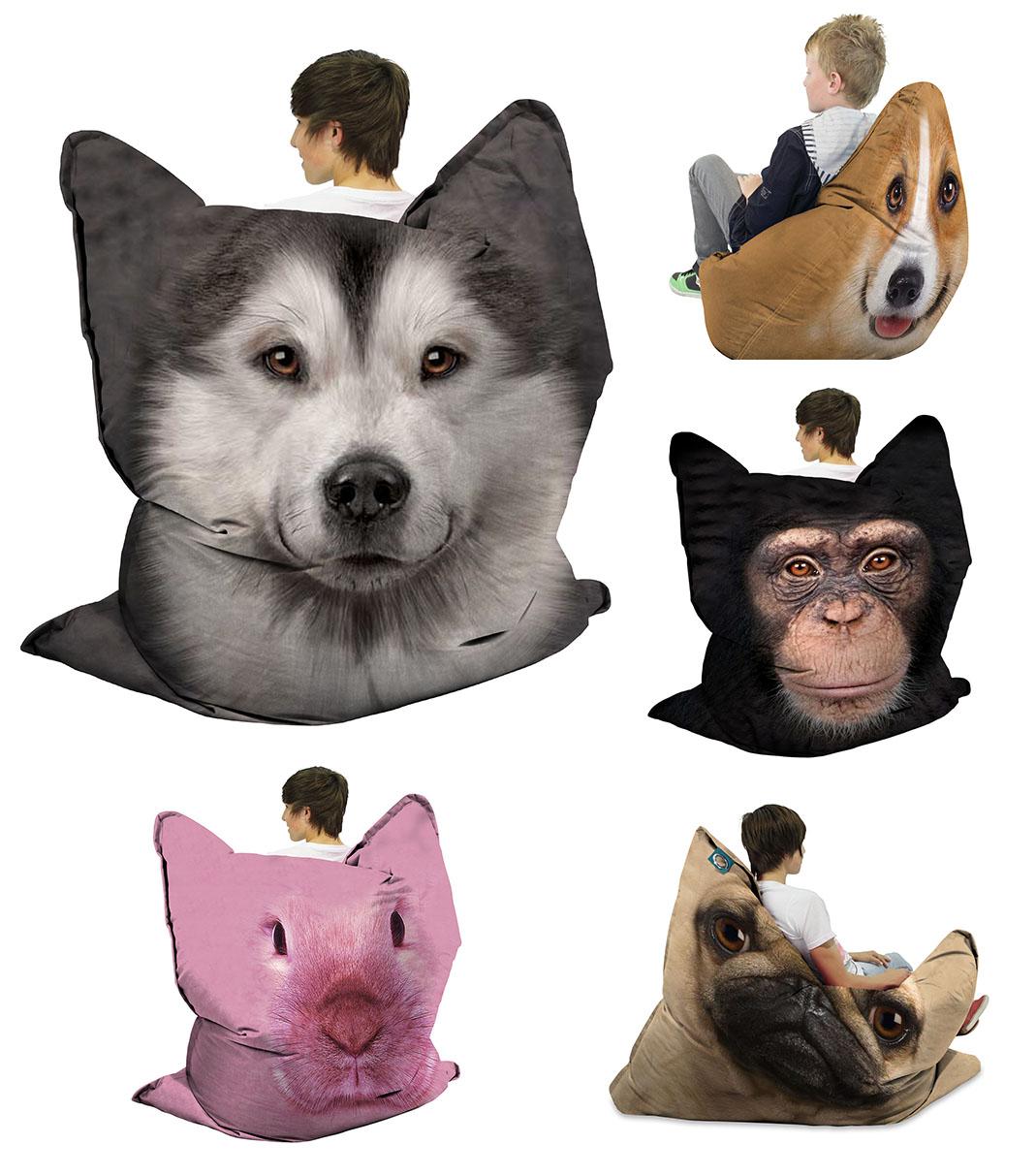 Animal Print Bean Bags