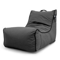 Coastal Haven charcoal lounger bean bag