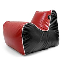 Red and black loft moto bean bag lounge seat