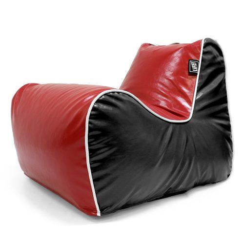 Red and black loft moto bean bag lounge seat
