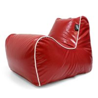 Red loft moto bean bag lounge chair