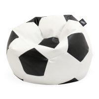 Black and white soccer ball bean filled bean bag