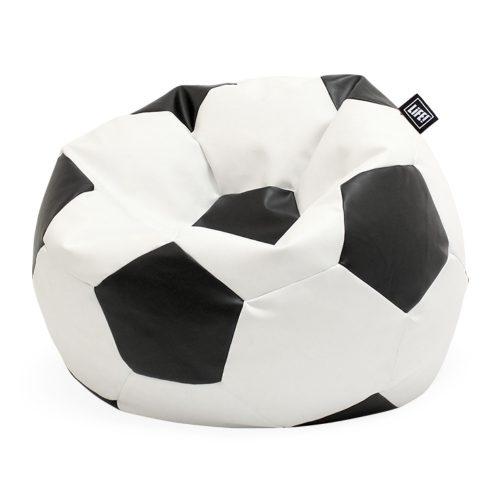 Black and white soccer ball bean filled bean bag