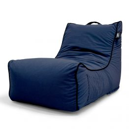 Coastal Haven navy lounger bean bag with pocket