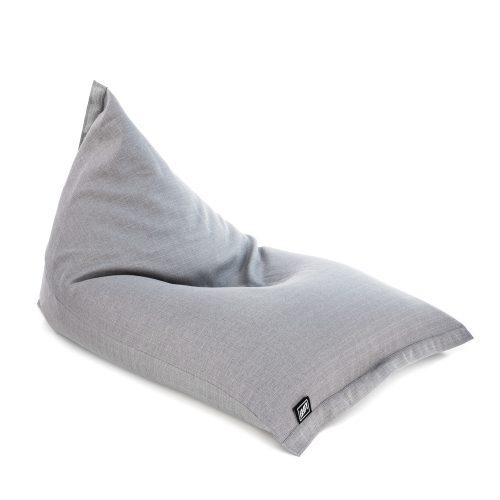 Grey linen sunny boy shaped bean bag seat