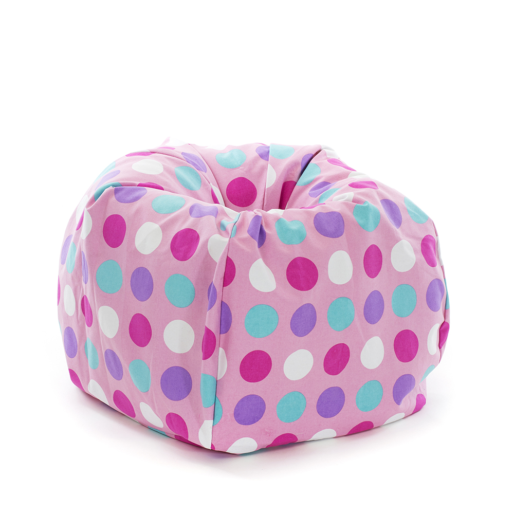 Classic Kids Teardrop Bean Bag U2013 Polka Dot Pink