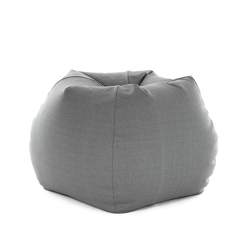 Soft and comfortable grey linen bean bag