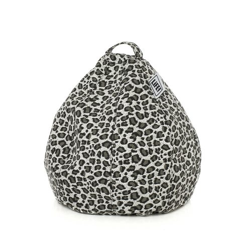 Grey leopard print iCrib for cushioning your portable device, mobile phone, table or iPad