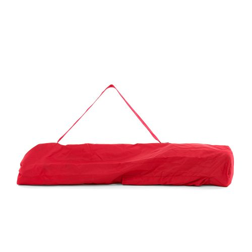 Red folding high chair carry bag size
