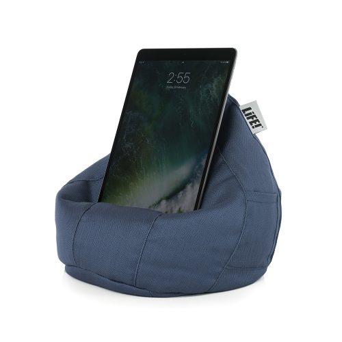 Blue Herringbone Life iCrib with Pocket iPad holder
