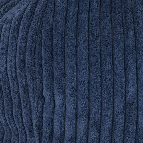 Close up of the blue cordory striped material used in the iCrib iPad bean bag