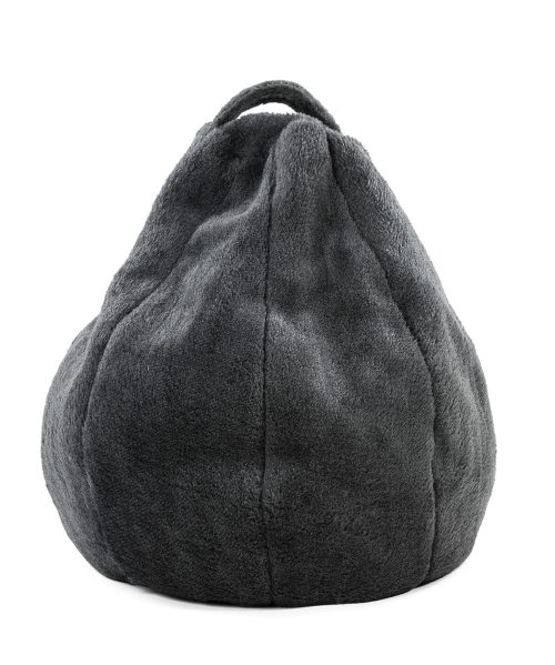 Charcoal faux fur iCrib tablet bean bag with carry handle for you iPad