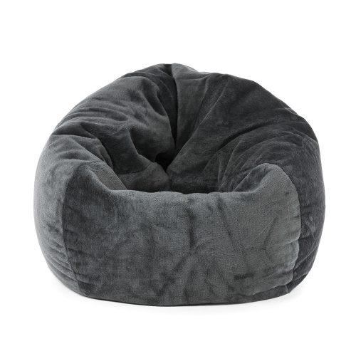 Large grey faux fur bean bag