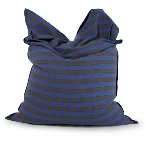 Large rectangular pillow arcadia dream bean bag in blue and grey check