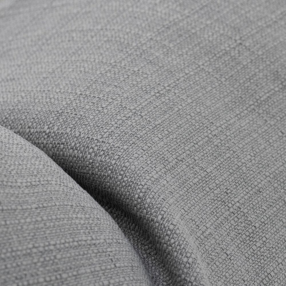 close up of the grey luna linen look material