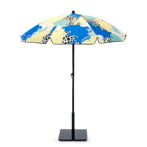 The bright contemporary designer print Tier UPF50+ sun beach umbrella