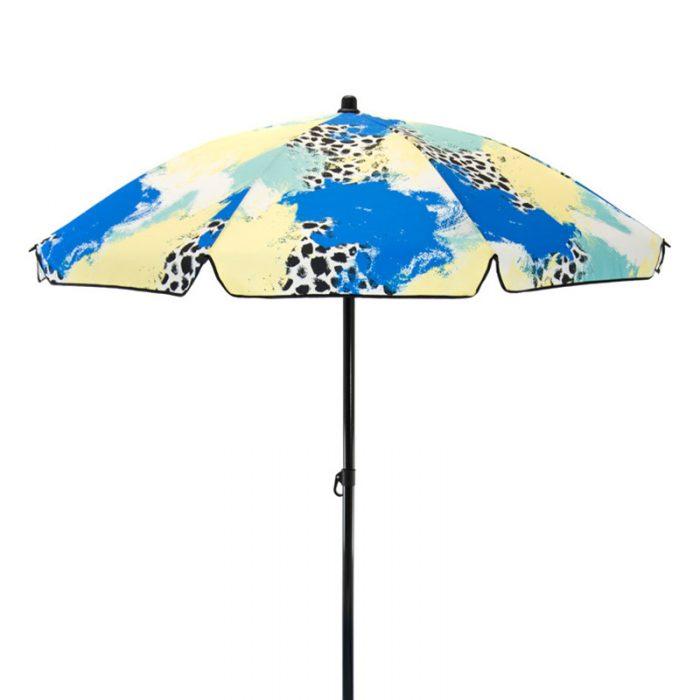 brightly colored outdoor sun umbrella