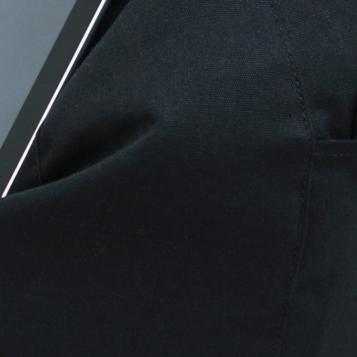 Close up of the black fabric