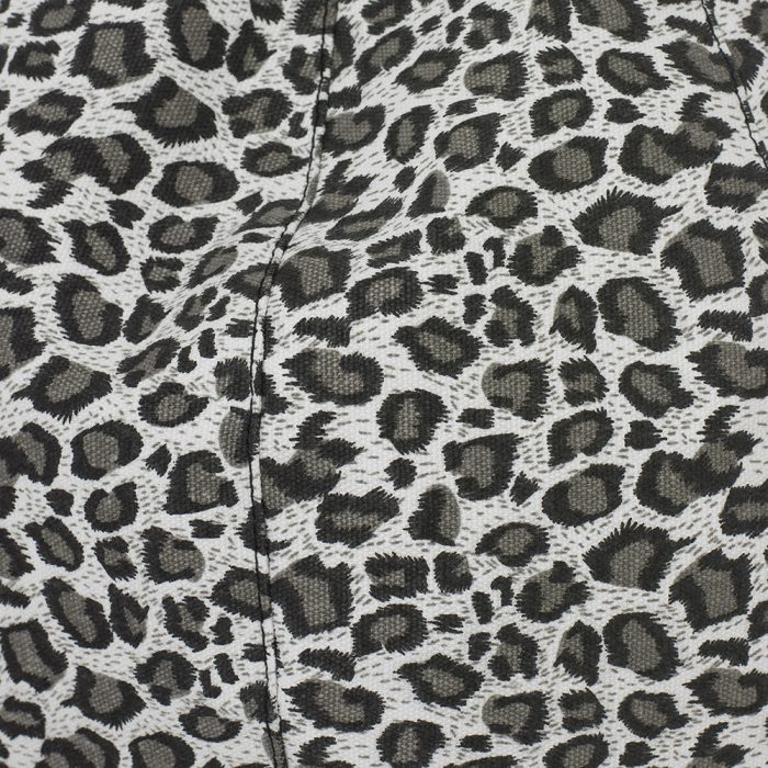 Close up of the grey animal print fabric