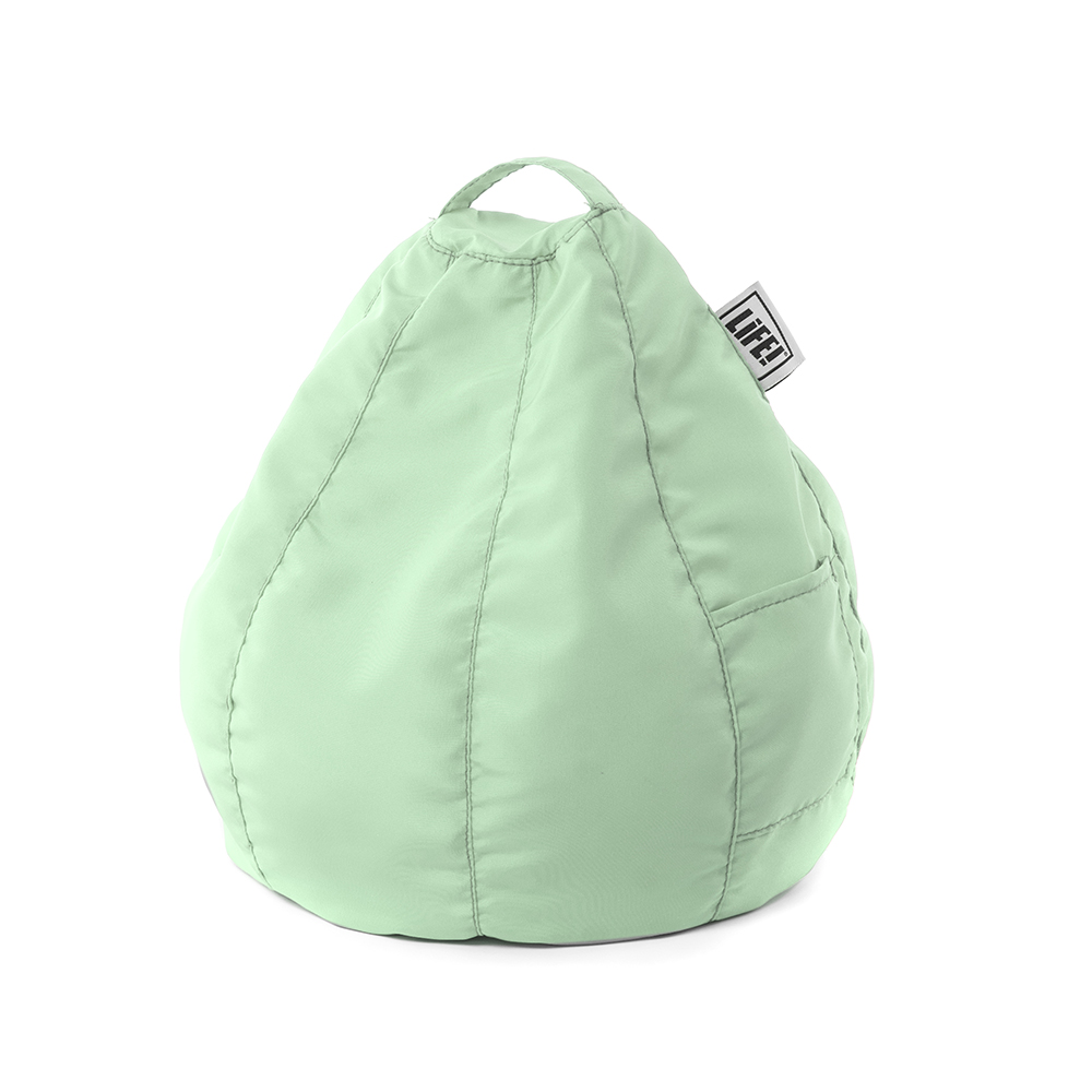 Mint green iCrib with handle and storage pocket