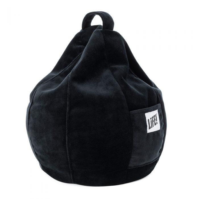 black velvet iCrib bean bag ipad and tablet stand