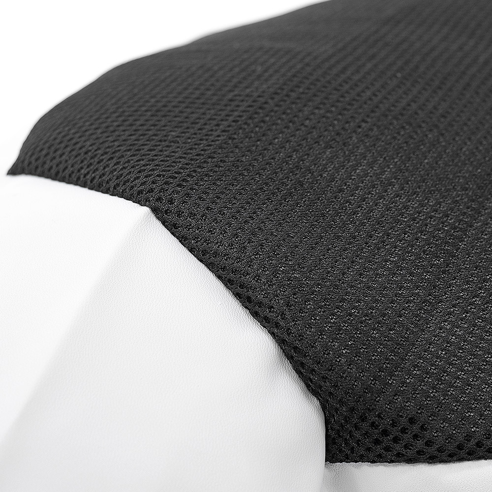 close up of the soccer ball bean bag material