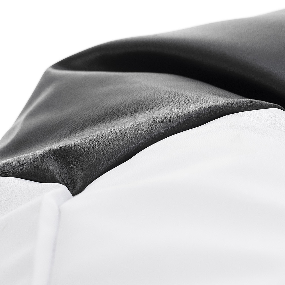 Close up of the fabric used for the soccer ball bean bag