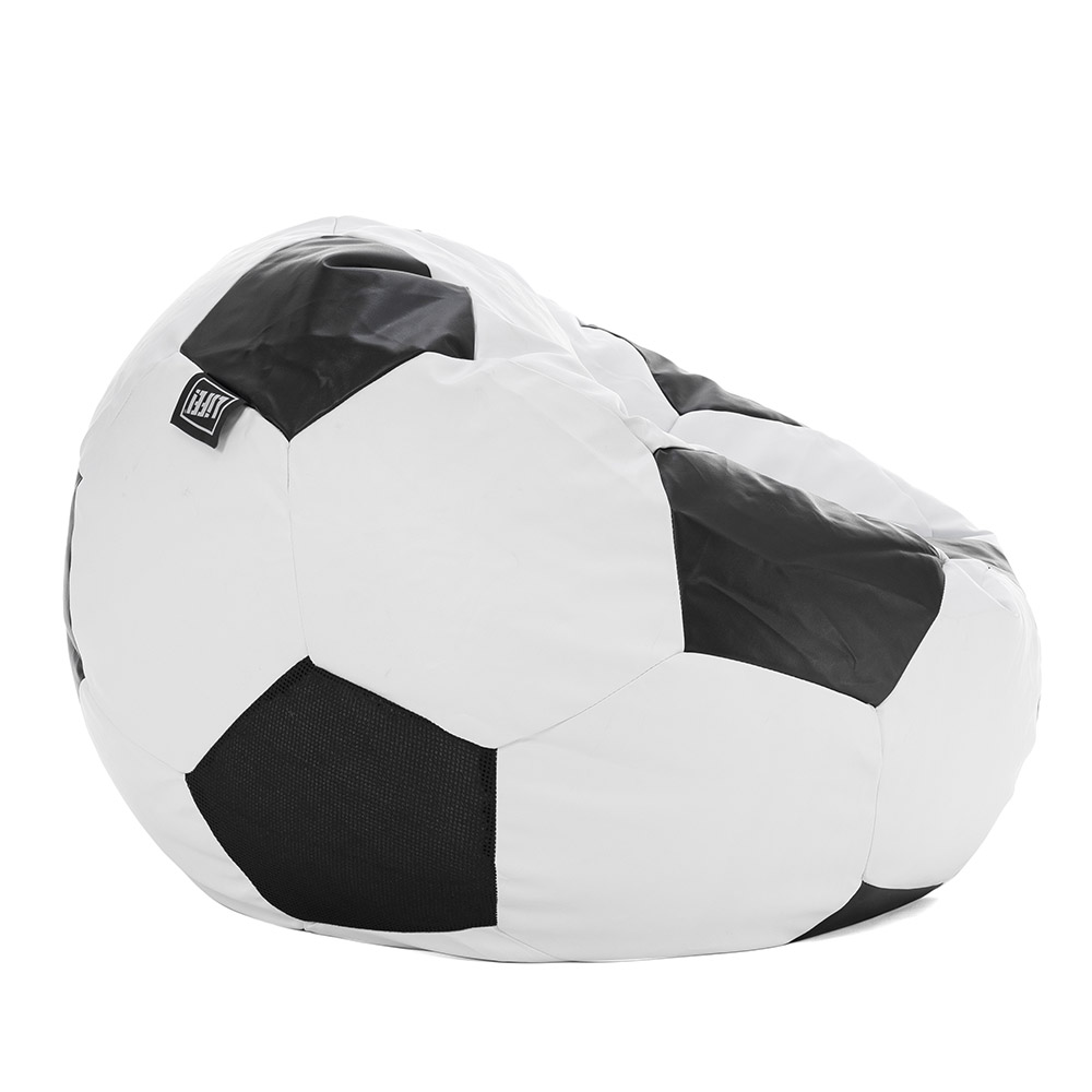 Side view of the soccer ball bean bag