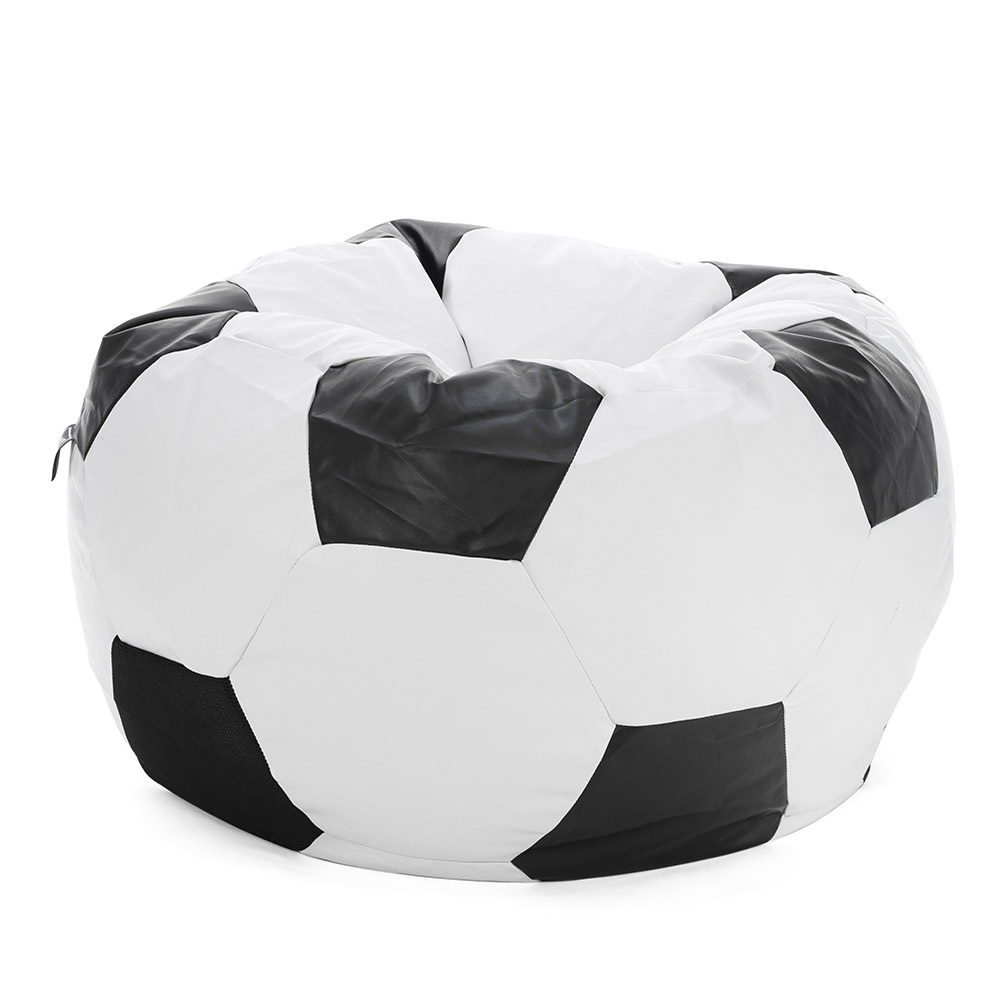 Soccer ball bean bag looking rounded