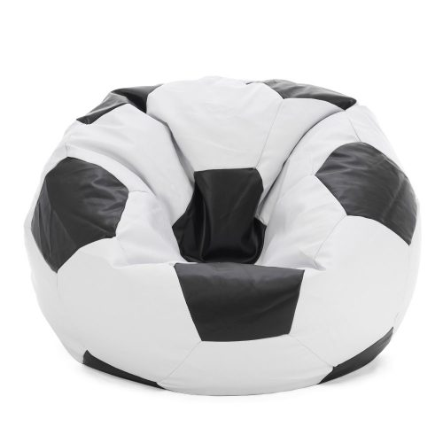 soccer ball bean bag looking sat in