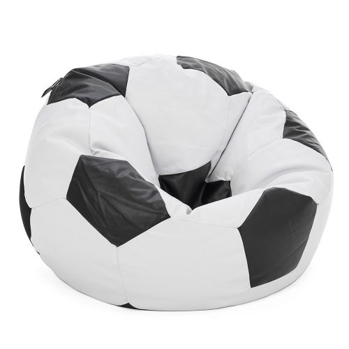 Soccer ball bean bag looking sat in from the side