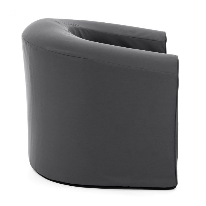 Side view of castle rock grey pop lounge foam armchair