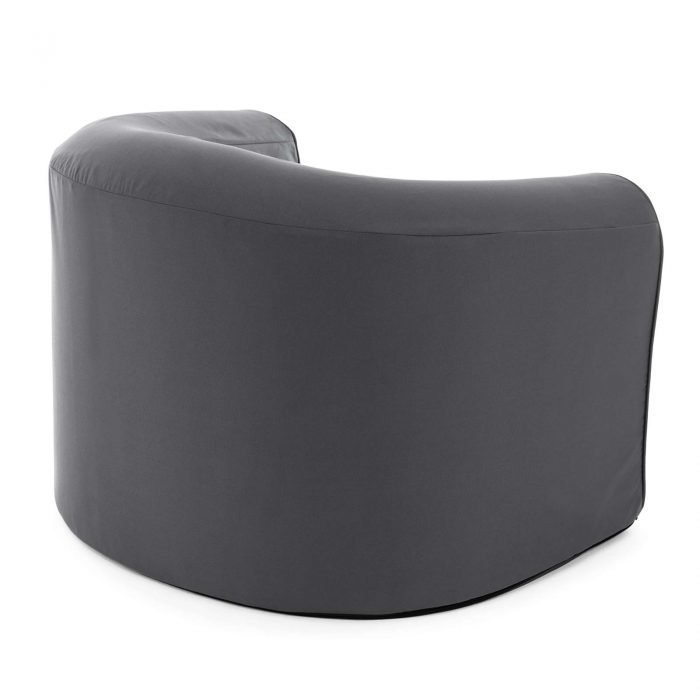 Rear view of the castle rock grey pop lounge foam armchair