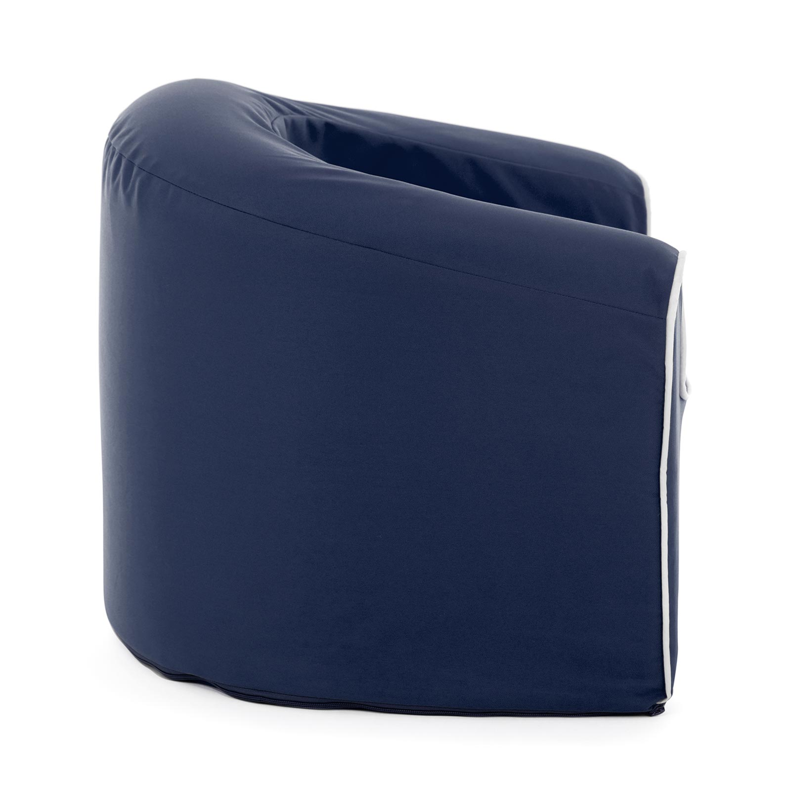 Side view of the crown blue pop armchair kids seat