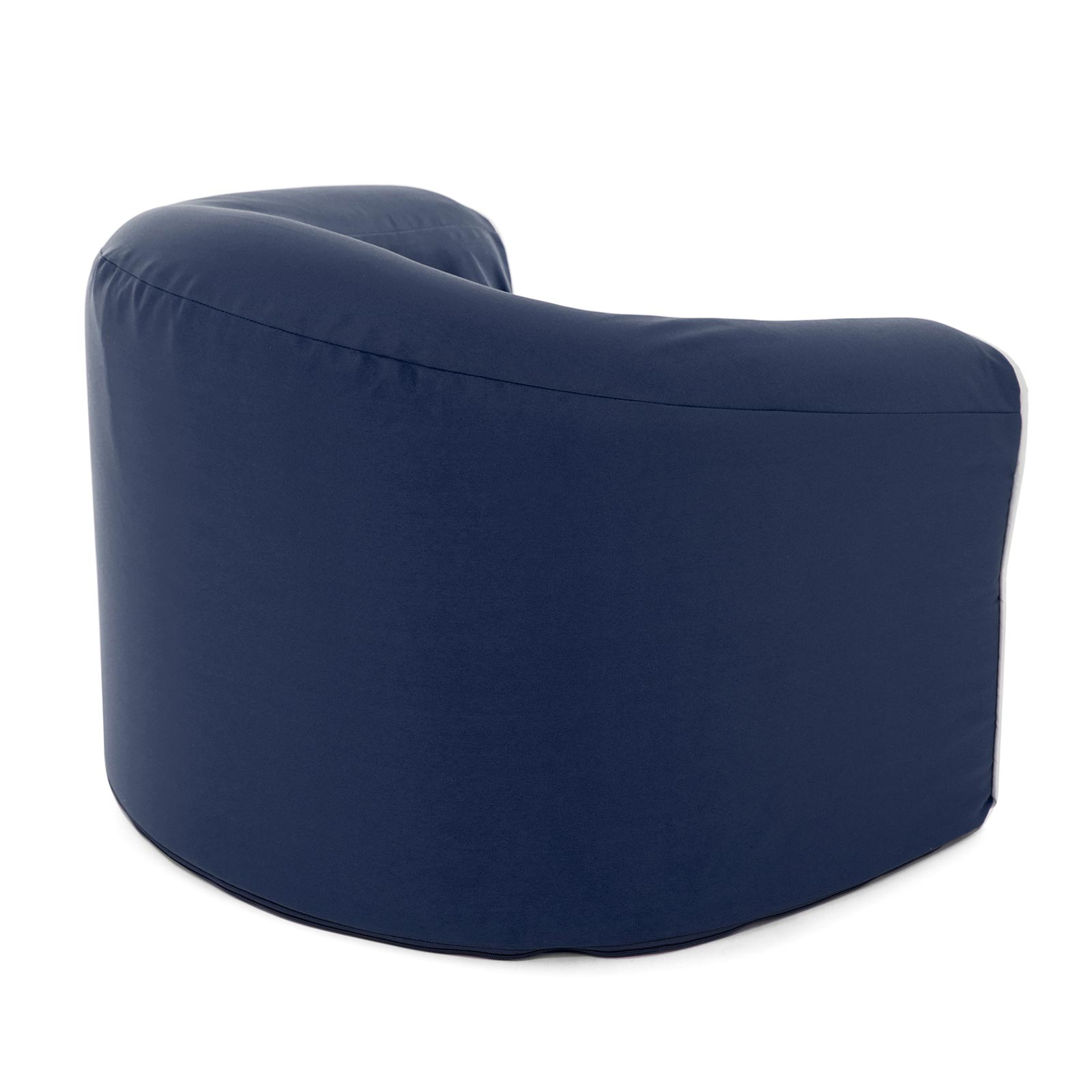Back view of the crown blue pop armchair kids seat