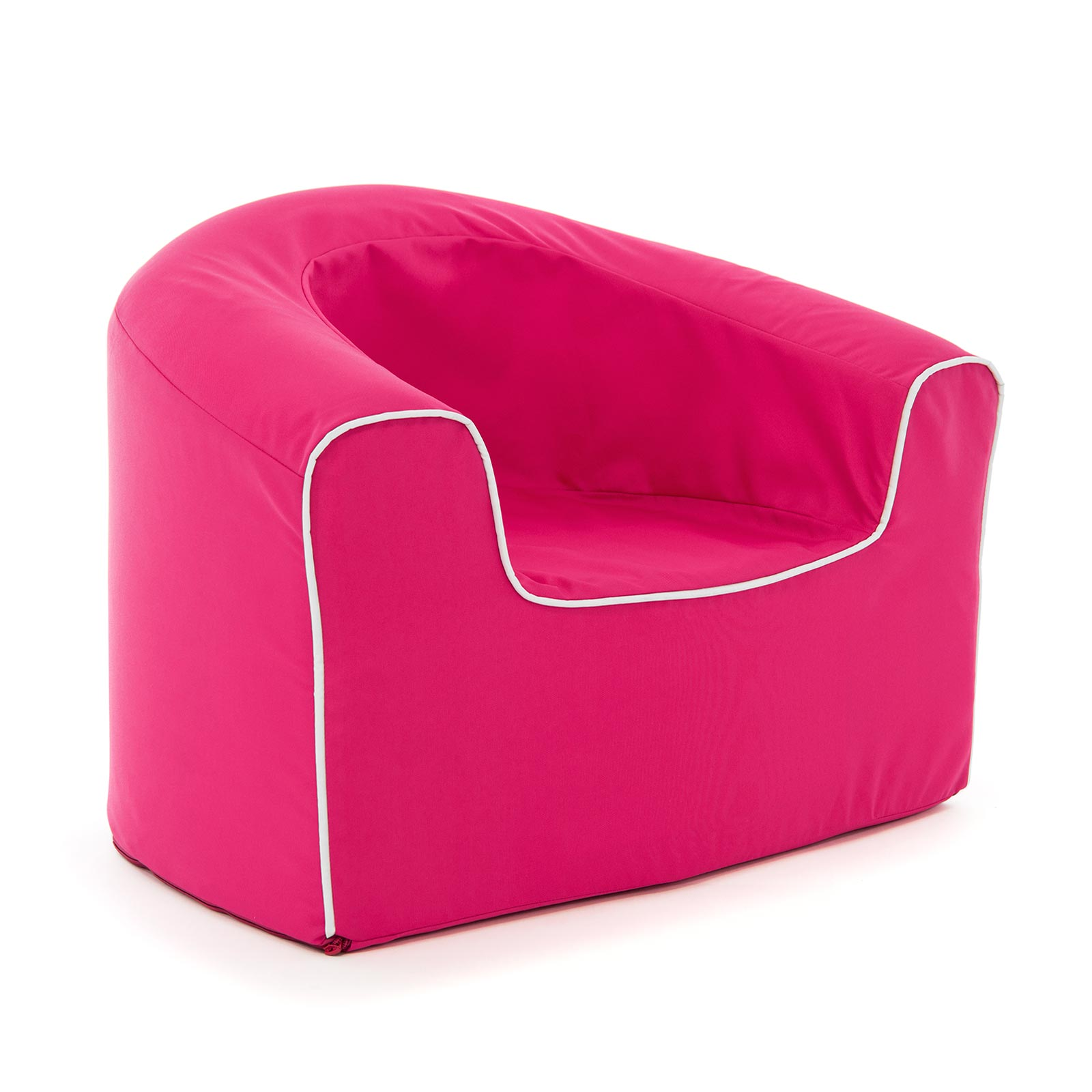 Oblique view of the kids raspberry pop armchair foam seating