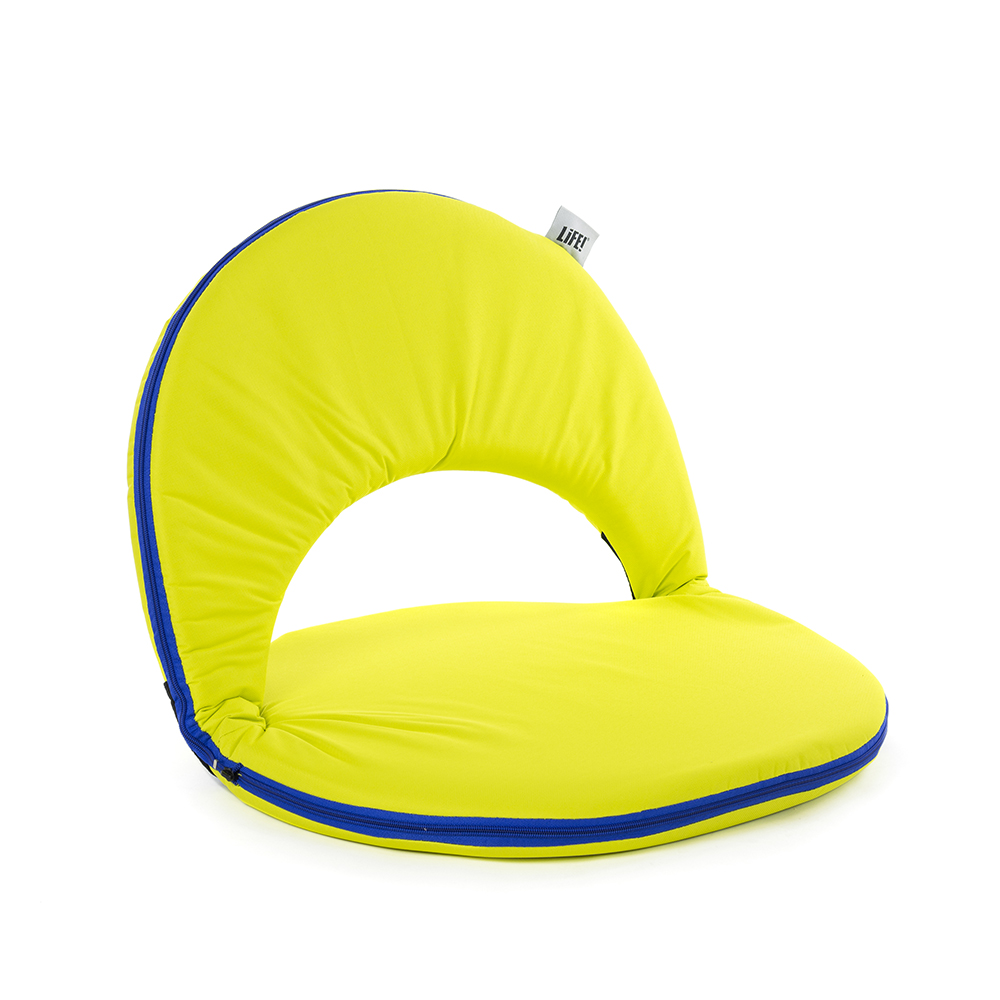 Portable, comfortable padded cushion recliner chair