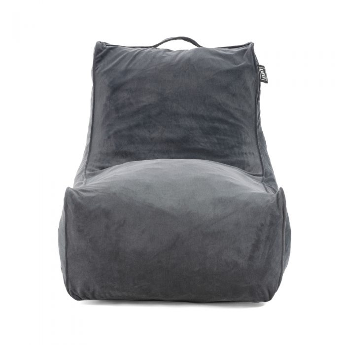 Front view of the pop lounge coastal haven charcoal grey chair