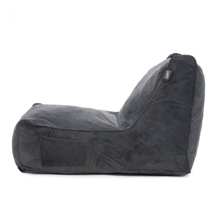 Side view of the coastal haven charcoal grey pop foam lounge