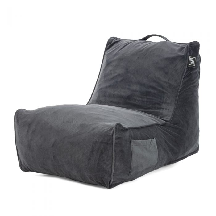 Charcoal coastal haven pop foam coastal lounge chair