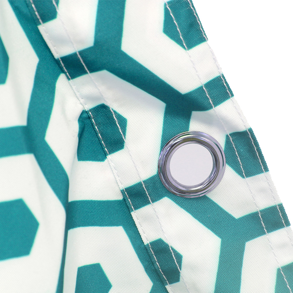 Close up of the hanging eyelet on the sunny boy geo mint bean bag