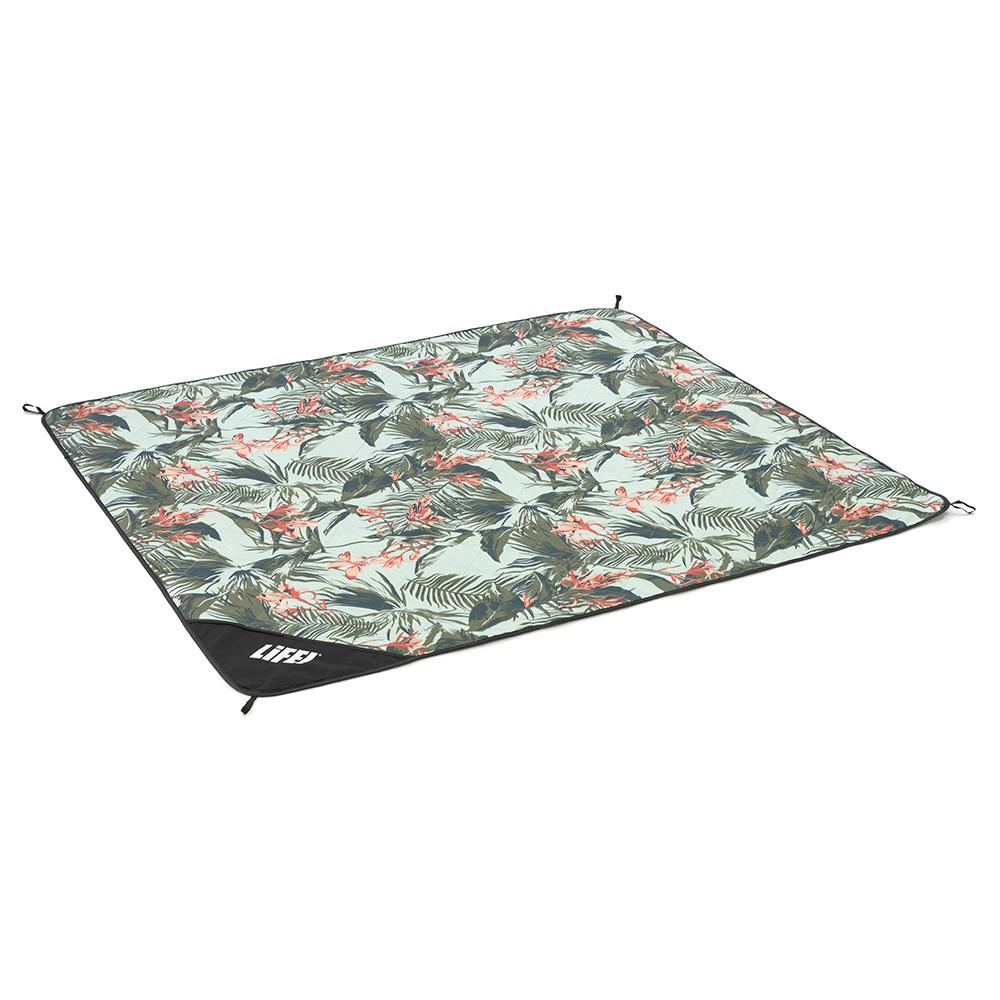 Oblique view of the waikiki print adventure mat picnic blanket