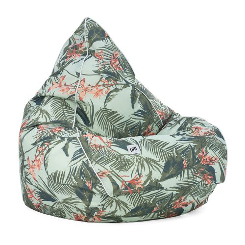 Waikiki tropical print tear drop shaped bean bag