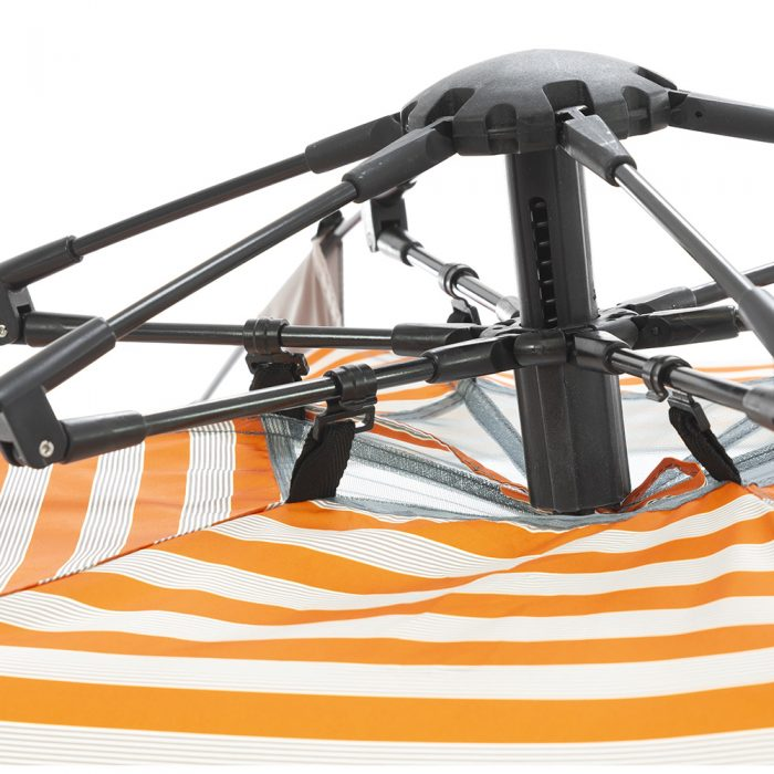Close up of the auto ezee mechanism on the retro airlie sun shelter