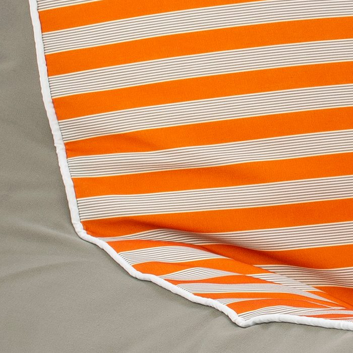 Close up of retro stripe fabric