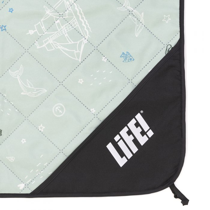 Close up of the sea of love adventure mat picnic rug privacy pocket