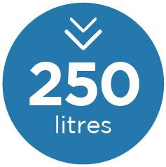 250 litres icon