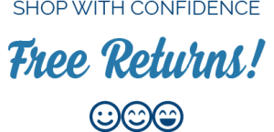 shop with confidence free returns