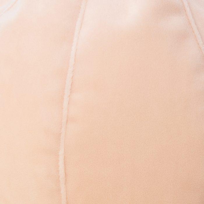 close up of the velvet sherbet material