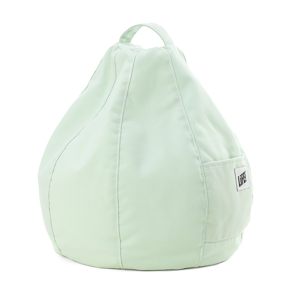 Tropical green iCrib showing the pocket and handle